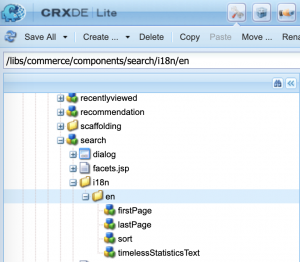 Out of the box i18n JCR structure for commerce/search