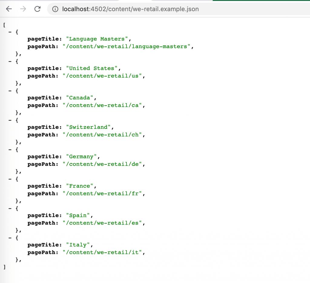 Sling Servlet Resource TypeResults Example
